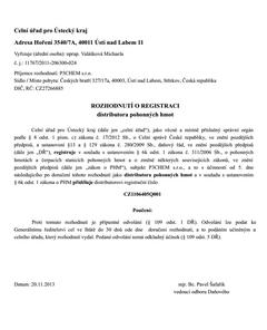 Dopis celního úřadu